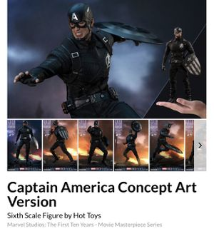 Captain America Concept Art Version Sixth Scale Figure by Hot Toys for Sale in San Antonio, TX