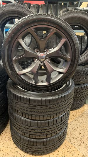 Used set 245-45R20, Goodyear eagle tires /rims for Sale in Raleigh, NC