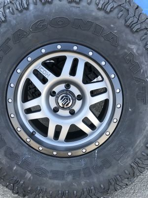 Icon Six Speed series wheels Titanium with 38x13.50xR17 MILESTAR PATAGONIA MT for Sale in Pomona, CA