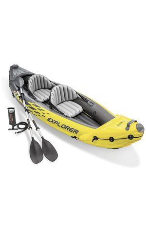 Intex explorer kayak, 2 person inflatable kayak for Sale in Fontana, CA