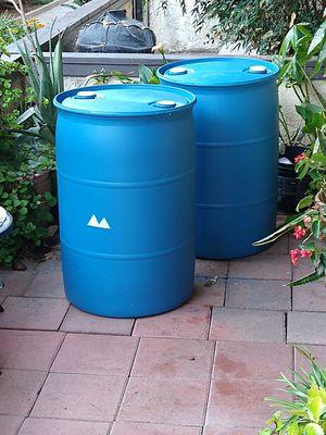 50 gallon plastic barrels for Sale in Fontana, CA