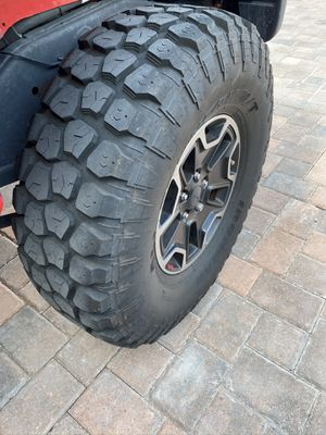 "Jeep Rubicon rims and 37"" mid tires. Excellent condition. for Sale in Tampa, FL"
