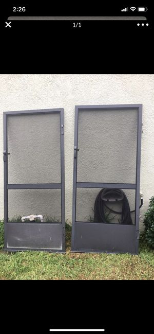 Aluminum screen door for pool cage / enclosure 36x80 $25 for Sale in Brandon, FL