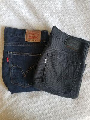 Levis Jeans 29 Men 2 pair for Sale in Los Angeles, CA