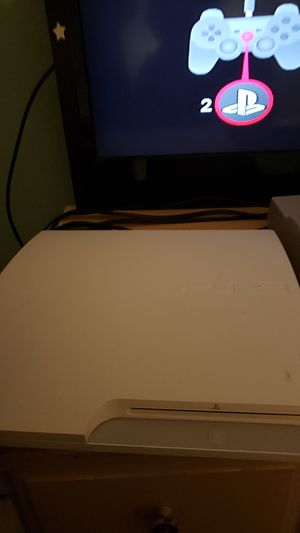 Ps3 slim white good condition entertaining offers for Sale in Phoenix, AZ