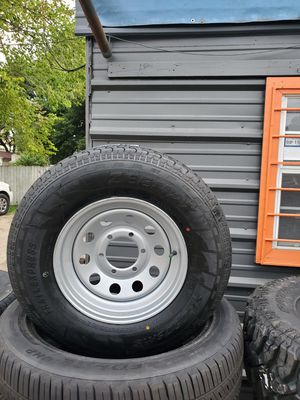 225/75/15 NEW TRAILER TIRE AND WHEEL FOR 135 DOLLARS EACH FINANCING AVAILABLE for Sale in Houston, TX