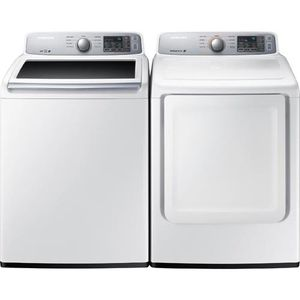 Samsung WA45M7050AW/A4 4.5 cu. ft. Top-Load Washer - White. Samsung DV45H7000EW 7.4 cu. ft. Electric Dryer - White for Sale in Pittsburgh, PA