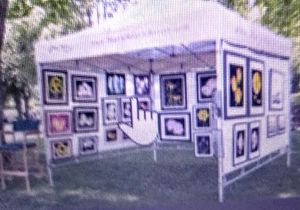 Display RACKS 4 PAINTINGS 38X39 STACKABLE SO FITS IN CAR MAKE 10X10 BOOTH ALUMINUM for Sale in Placentia, CA
