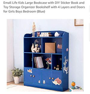 Emall Life childrens large bookcase in color white for Sale in Grand Prairie, TX