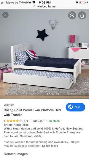Twin bed frame for Sale in Los Angeles, CA