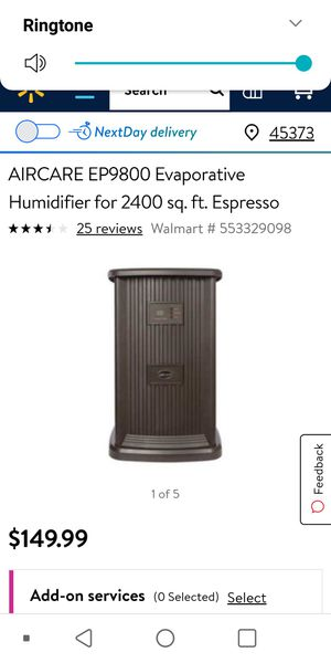 Aircare house humidifier for Sale in Columbus, OH