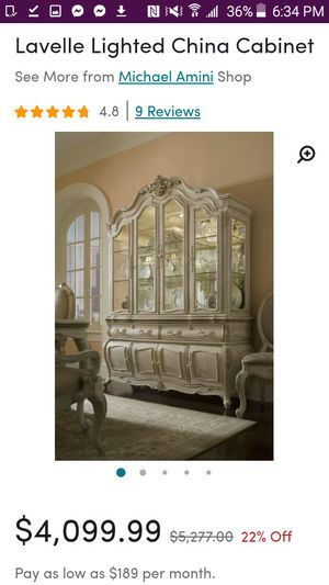 Michael Amini - Lavelle Lighted China Cabinet for Sale in Hamden, CT