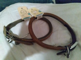 Dog Collar X 2. 100% Leather for Sale in Ocala,  FL