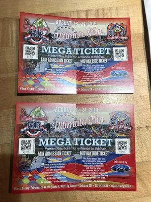 2 admission and ride tickets for Sale in Mt. Juliet, TN