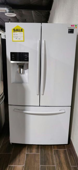 SAMSUNG WHITE FRENCH DOOR 100395 - WHITE REFRIGERATOR for Sale in Glendale, AZ