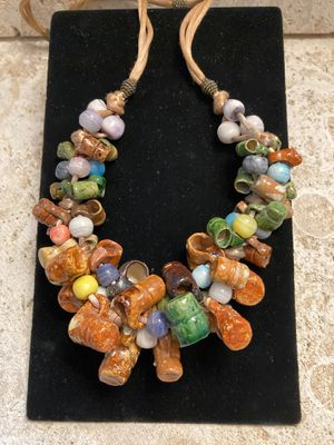 Vintage One of a Kind Necklace-Hand Made Pottery Mugs-Mini-Wonderful Quality-Good Condition-Listing Hundreds Of Items for Sale in Miami, FL