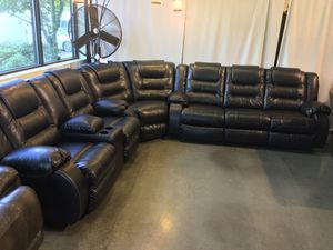 Black Reclining Sectional Sale for Sale in Portland, OR