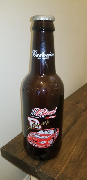 Budweiser NASCAR Dale Earhardt Jr Large Glass Bottle for Sale in Sunbury, OH