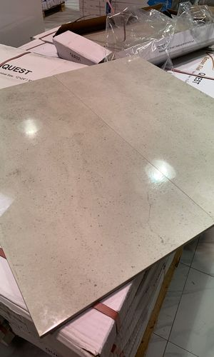 EMSER Quest Silver Polished Tile 12x24 Porcelain Floor and Wall Rectangle Field Tile Sold By Box for Sale in Fairfax, VA