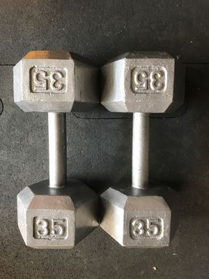 Hex Dumbbells (2x35s) for $50 Firm!!! for Sale in Burbank, CA
