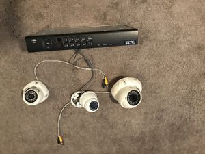 This DVR is for indoor or outdoor camera system with infrared lighting HD compatibility asking $175 includes HD DVR DVD and also comes with sixCameras for Sale in Orlando, FL