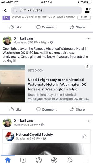 1 night stay at the Historical Watergate Hotel for Sale in Alexandria, VA