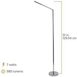 PureOptics LED Floor Lamp with Minimalist Chrome Design, Dimmable (VLED560F) for Sale in Ontario, CA