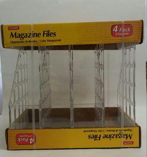 Magazine/ File rack. Plastic. Clear. NIB for Sale in North Miami, FL