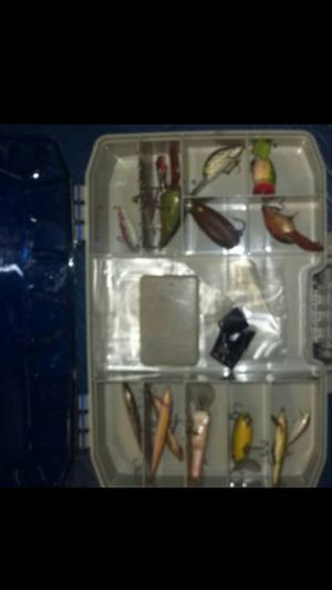 Two sided box with fishing lures for Sale in Reedley, CA
