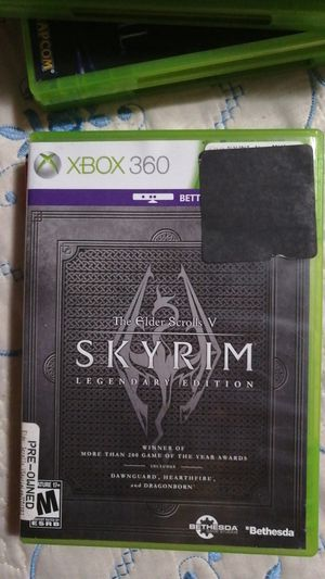 Pre-owned XBOX360 Elder Scrolls V Skyrim Legendary Edition for Sale in Rosemead, CA