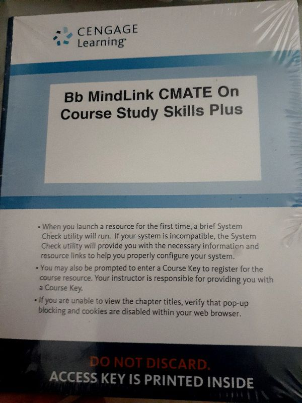 Cengage course study.