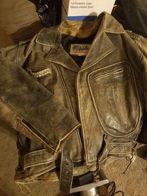 Leather fringe jacket for Sale in Denver, CO
