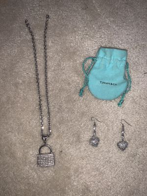 Real Tiffany Necklace & Earring Set for Sale in Washington, DC