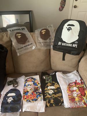 Bape T-Shirts & Back Packs. for Sale in Arlington, TX