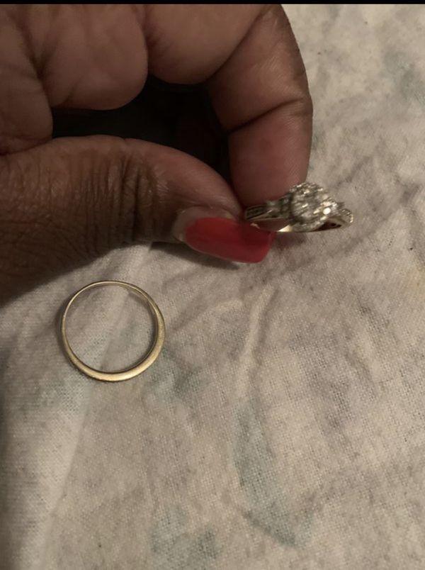 Engagement ring set size 10