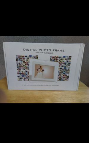 Brand New Digital Photo Frame - Slide Show Photos, Videos, MP3 Music Player With Clock & Calendar for Sale in Fullerton, CA