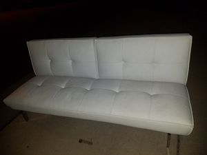 White Leather Futon for Sale in Fort Washington, MD
