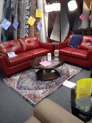 Genuine leather sofa and loveseat for Sale in Greensboro, NC