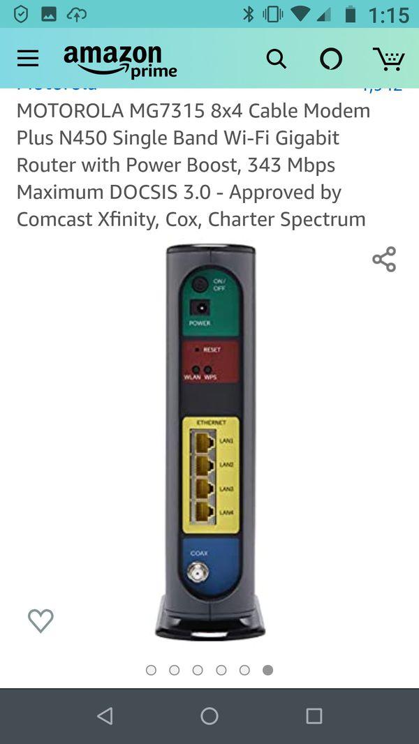 Motorola Cable Modem plus Router