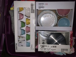 IKEA kids kitchen toys - pots, create set, and plates for Sale in Los Angeles, CA