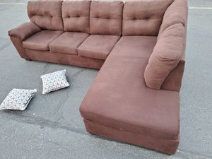 Brown Sectional couch, size 7by10ft for Sale in Seattle, WA