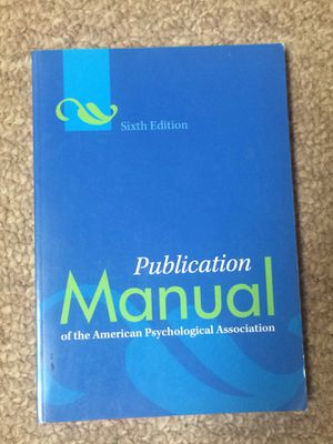 APA Publication Manual 6th Edition for Sale in Quincy, IL