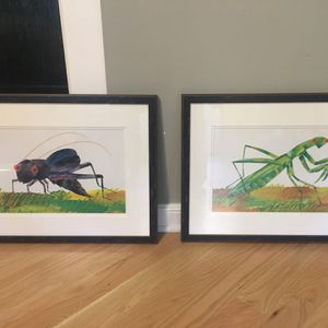 Two Eric Carle framed and matted bug prints for Sale in Atlanta, GA