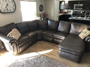 La-Z-Boy Leather Reclining Sectional Couch for Sale in Mesa, AZ