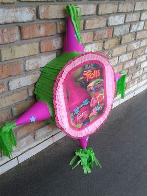Trolls star shape pinatas for Sale in Houston, TX