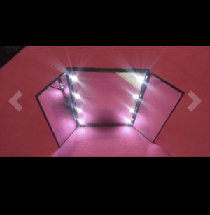 Lighted Makeup Mirror Vanity Travel Mirror with 8 LED Lights Tri-Fold Portable batteries Included NEW for Sale in Los Angeles, CA