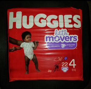 Huggies Little Movers Size 4 22ct for Sale in Watauga, TX