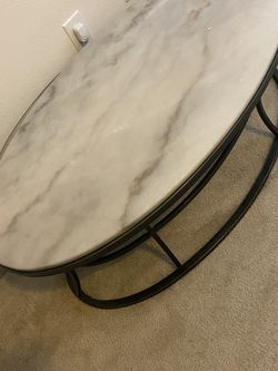 Marble Oval Coffee Table W/ 3 Matching End Tables for Sale in Raleigh,  NC
