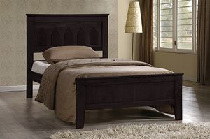 Twin Bed Frame, Capuccino for Sale in Santa Fe Springs, CA