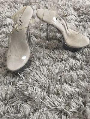 Size 5 clear heels for Sale in Dallas, TX